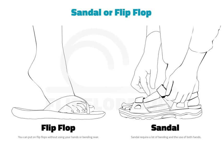 flipflops and sandals