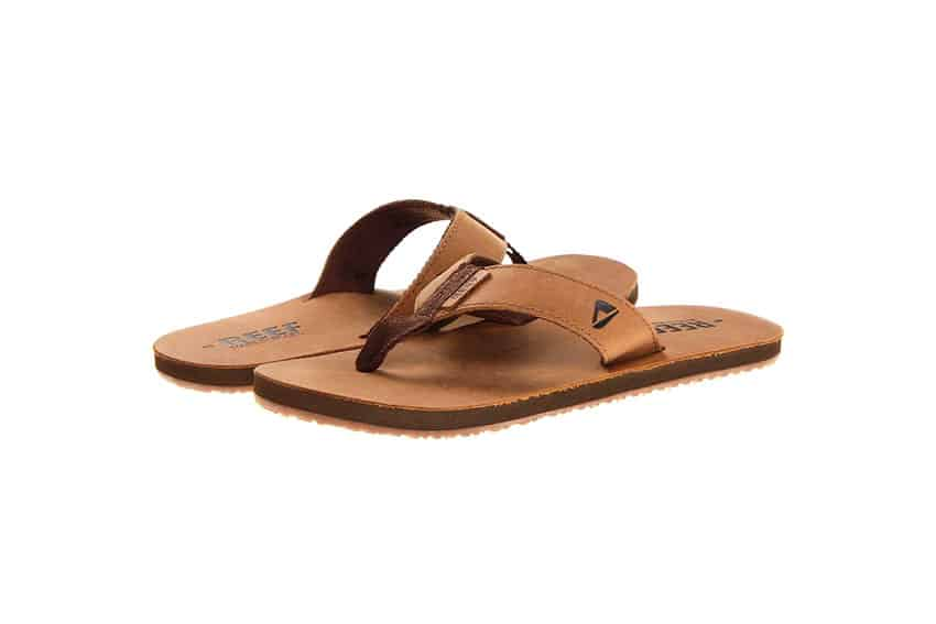 reef leather smoothy flip flop review